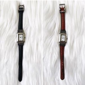 Brighton Reversible Leather Strap Watch